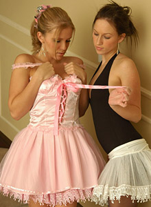 Karen and Kate play dressup as ballerinas and get naked! from Karen Loves Kate